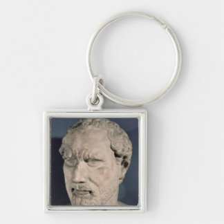 Bust of Demosthenes Silver-Colored Square Keychain
