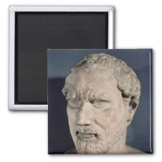 Bust of Demosthenes Square Magnet