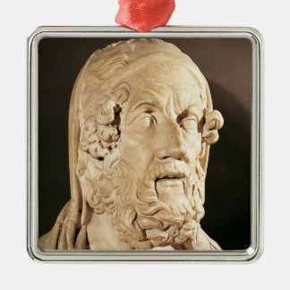 Bust of Homer, Hellenistic period Metal Ornament