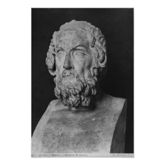 Bust of Homer, Hellenistic period Poster