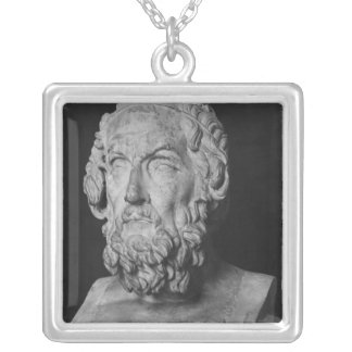 Bust of Homer, Hellenistic period Silver Plated Necklace