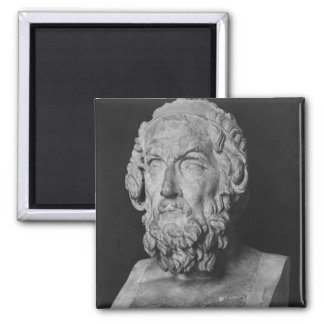 Bust of Homer, Hellenistic period Square Magnet