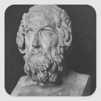 Bust of Homer, Hellenistic period Square Sticker