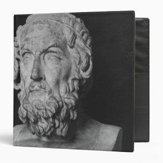 Bust of Homer, Hellenistic period Vinyl Binder