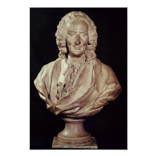 Bust of Jean-Philippe Rameau  1760 Poster