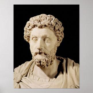 Bust of Marcus Aurelius Poster