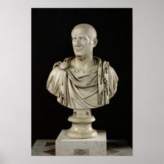 Bust of Marcus Claudius Tacitus Poster
