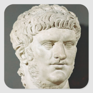 Bust of Nero Square Sticker