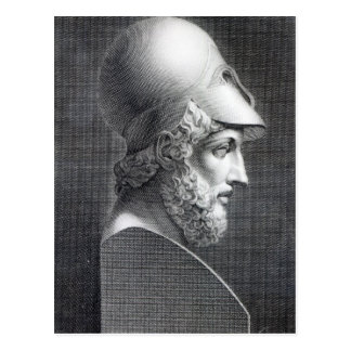 Bust of Pericles, engraved by Giuseppe Cozzi Postcard