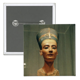 Bust of Queen Nefertiti, front view 2 Inch Square Button
