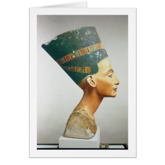 Bust of Queen Nefertiti, side view, from the studi Card