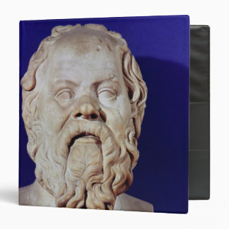 Bust of Socrates 3 Ring Binder