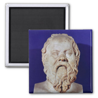 Bust of Socrates Square Magnet