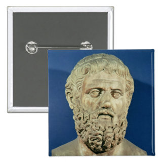 Bust of Sophocles 2 Inch Square Button