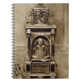 Bust of William Shakespeare (1564-1616) and inscri Notebooks
