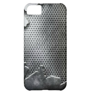 Busted Metal / Chrome Speaker - Mean and Manly Case For iPhone 5C
