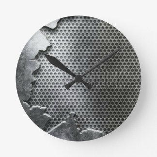 Busted Metal / Chrome Speaker - Mean and Manly Wall Clock