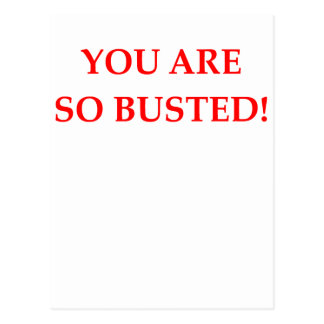 BUSTED POSTCARD
