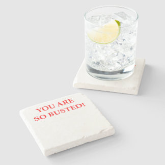 BUSTED STONE BEVERAGE COASTER