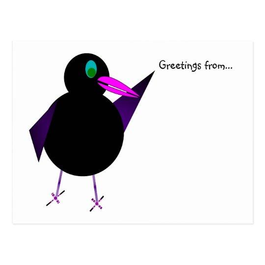 Buster Blackbird postcard
