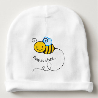 Busy as a  bee baby beanie