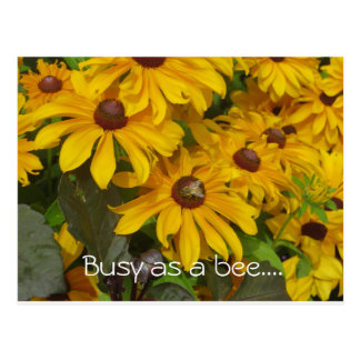 """Busy as a bee"" postcard"
