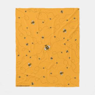 Busy as a Bee Yellow Fleece Blanket