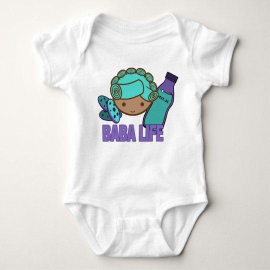 "Busy Baby Baba infant creeper ""Baba Life"""