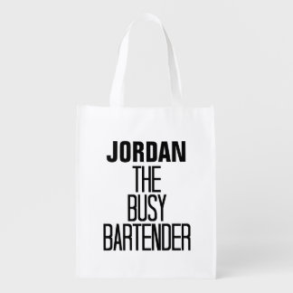 Busy Bartender Reusable Grocery Bag