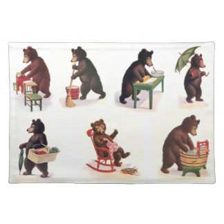 Busy Bears at Work from 1907 Placemat