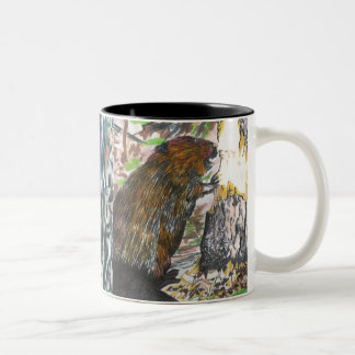 Busy Beaver Two-Tone Coffee Mug