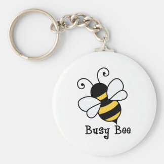 Busy bee2 basic round button keychain