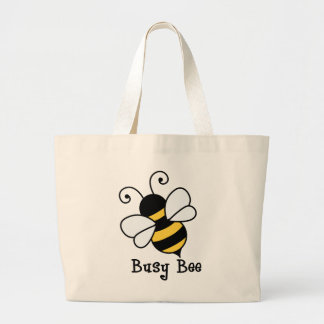 Busy bee2 large tote bag