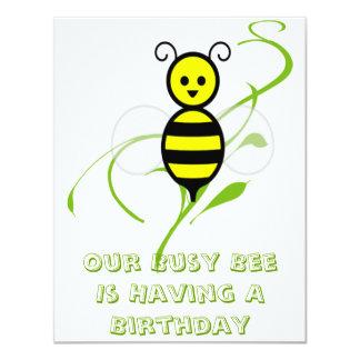 Busy Bee Honeybee Birthday Party Invitations
