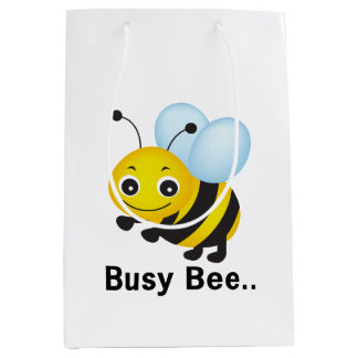 Busy bee medium gift bag