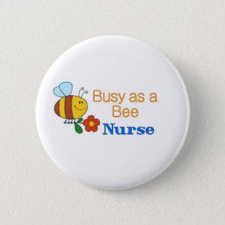 Busy Bee Nurse 2 Inch Round Button