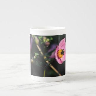 Busy Bee pink floral 10 oz bone china mug