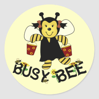 Busy Bee Classic Round Sticker