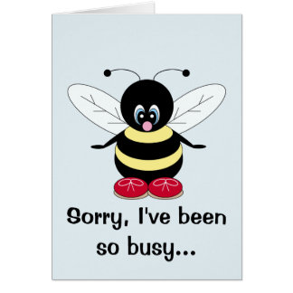 Busy Bee Thinking of You Card