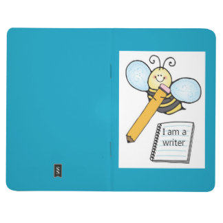 Busy bee writing notebook