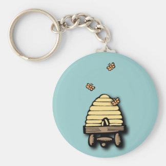 Busy Beehive Key Chain