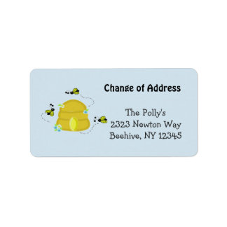 Busy Beehive Our Address Label