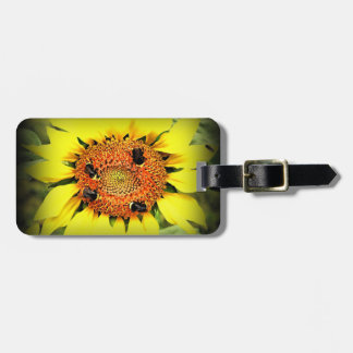Busy Bee's Luggage Tag w/ leather strap