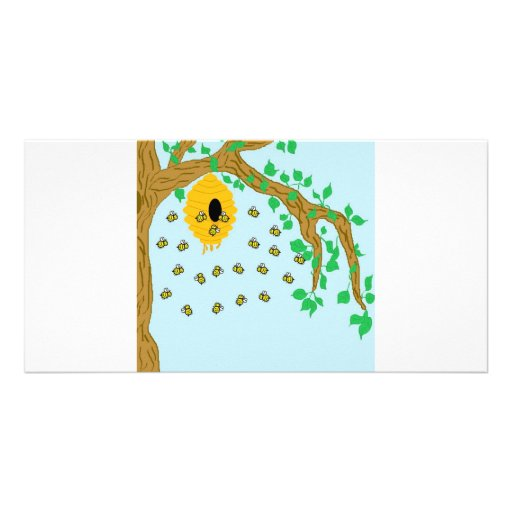 Busy Bees Personalized Photo Card