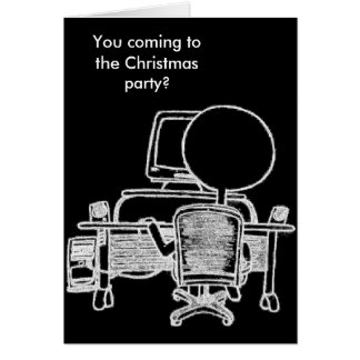 Busy Computer Guy Christmas Card