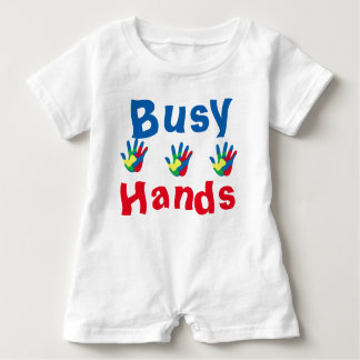 Busy Hands, Baby Romper