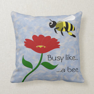 Busy Like a Bee Throw Pillow