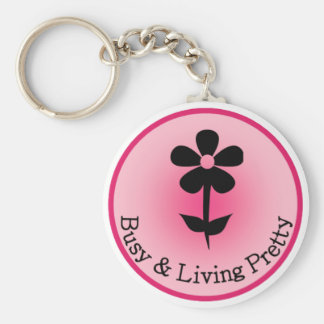 Busy & Living Pretty Official Logo Keychain