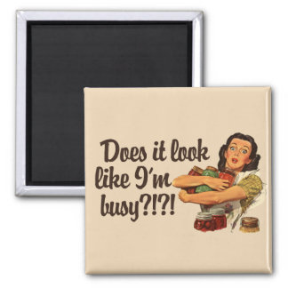 Busy Mom Square Magnet