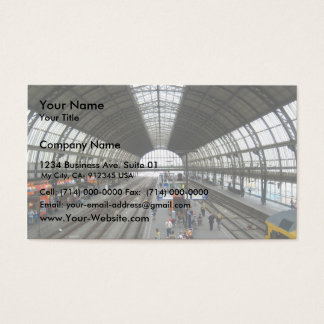 Busy Railway Station Business Card